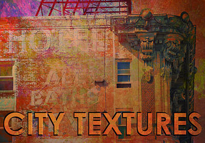 Mixed Media - Ruby Vintage Urban Textures by John Fish
