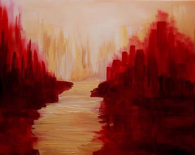 Julia Lueders Painting - Ruby Way 2 by Julie Lueders