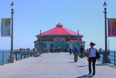 Photograph - Rubys Diner - Huntington Beach Pier California by Ram Vasudev
