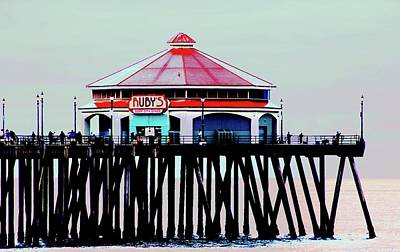 Photograph - Ruby's Diner Huntington Beach Pier by Carol Tsiatsios