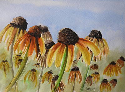 Hearty Painting - Rudbeckia Hirta by Betty-Anne McDonald
