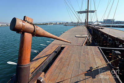 Sailing Photograph - Rudder Of An Ancient Trireme by George Atsametakis