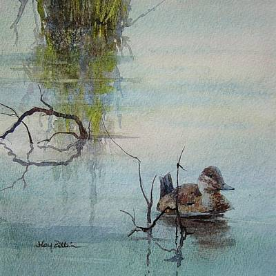 Wall Art - Painting - Ruddy Duck by Floy Zittin