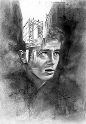 Rudimentary - James Dean Print by Michael George Escolano