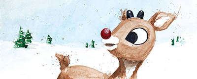 Claymation Painting - Rudolph by Tess Kamban