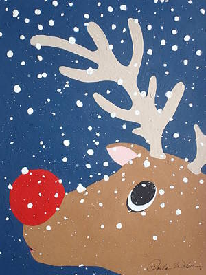 Rudolph The Red Nosed Reindeer Original by Paula Weber