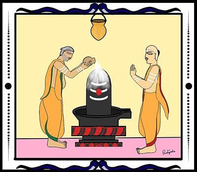 Painting - Rudrabhishekam by Pratyasha Nithin