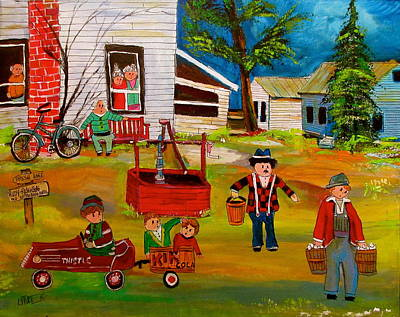 St. Sophie Synagogue Painting - Rudy- Rosenberg Farm New Glasgow by Michael Litvack