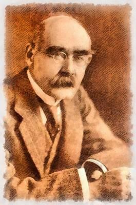 Einstein Painting - Rudyard Kipling, Author by John Springfield