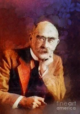 Famous Book Painting - Rudyard Kipling, Literary Legend by Sarah Kirk