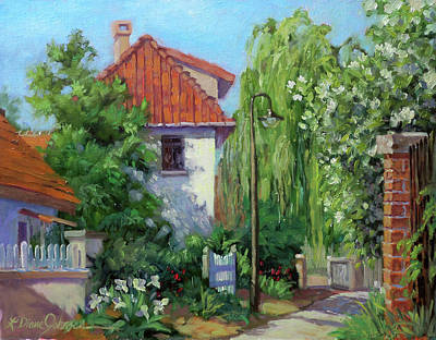 Painting - Rue Claude Monet by L Diane Johnson