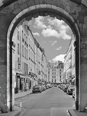 Photograph - Rue De Birague In Le Marais District by Digital Photographic Arts