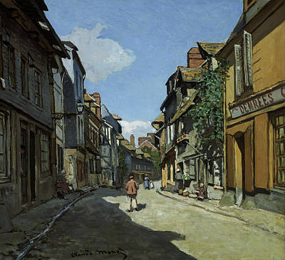 French Village Painting - Rue De La Bavole Honfleur by Claude Monet