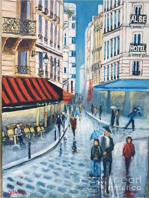 Painting - Rue De La Huchette, Paris 5e by Jean Pierre Bergoeing