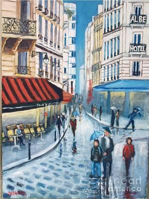 Painting - Rue De La Huchette, Paris 5e by Jean Pierre Bergoeing