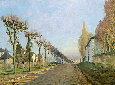 Rue De La Machine Louveciennes Art Print by Alfred Sisley