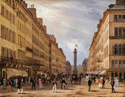 Rue De La Paix With The Place Vendome In The Background Art Print by MotionAge Designs