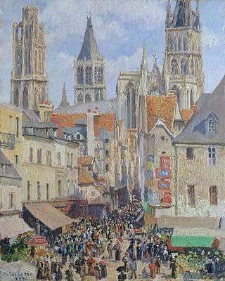 Painting - Rue De L'epicerie, Rouen by Camille Pissaro