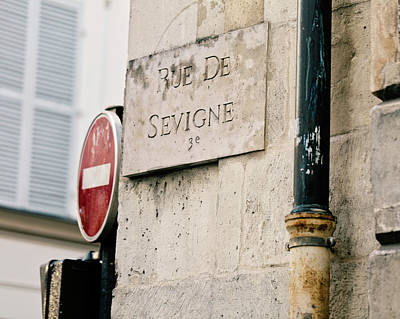 Photograph - Rue De Sevigne - Paris Photography by Melanie Alexandra Price