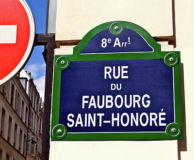 Photograph - Rue Du Faubourg Saint-honore by Ira Shander
