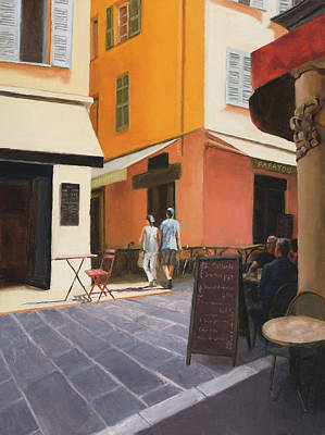 Painting - Rue En Nice by Tate Hamilton