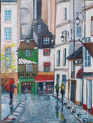Painting - Rue Galande, Paris by Jean Pierre Bergoeing