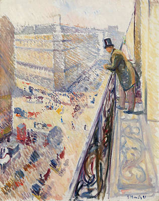 Streetscape Painting - Rue Lafayette by Edvard Munch