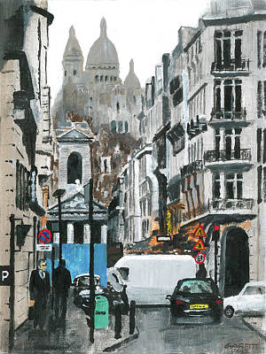 Paris Skyline Royalty-Free and Rights-Managed Images - Rue Lafitte by John Garfitt