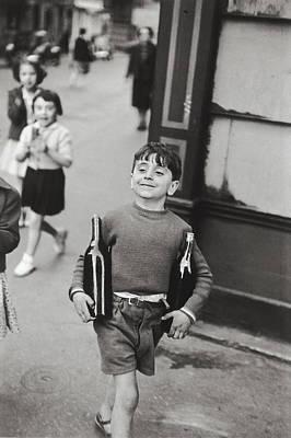 Rue Mouffetard By H. Cartier Bresson Art Print by Hans Wolfgang Muller Leg