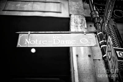 Photograph - Rue Notre Dame Montreal by John Rizzuto