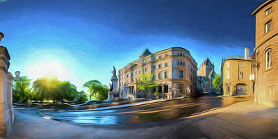 Photograph - Rue Port Dauphin - Painting by Chris Bordeleau