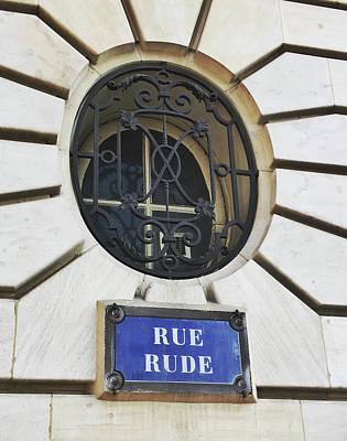 Photograph - Rue Rude, Paris by Frank DiMarco