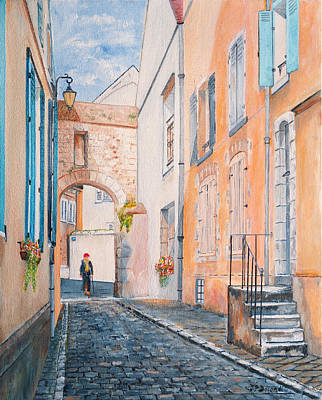 Painting - Rue Saint Yves - Chartres - France - Oil On Canvas by Jean-Pierre Ducondi