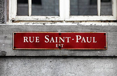 Rue Saint-paul Art Print by John Rizzuto