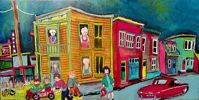 Painting - Rue St. Augustine St. Henri 1974 by Michael Litvack