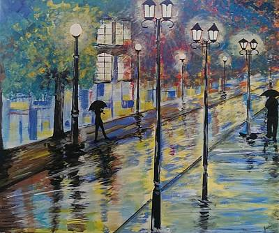 Painting - Rue St Paul Paris by Judi Goodwin