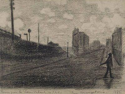 Drawing - Rue Vercingetorix  by Paul Signac
