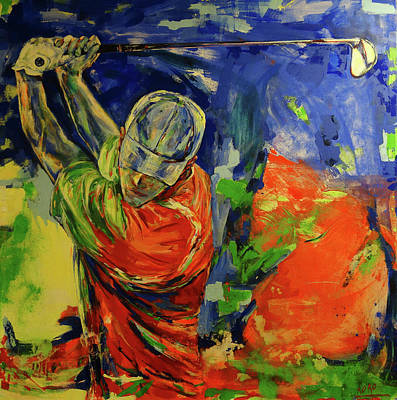 Painting - Rueckschwung   Backswing by Koro Arandia