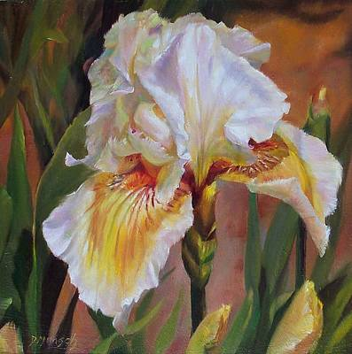 Painting - Ruffled Iris by Donna Munsch