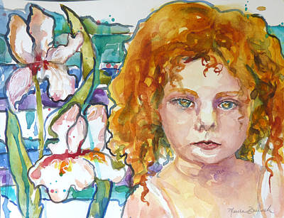 Painting - Ruffled Iris by P Maure Bausch