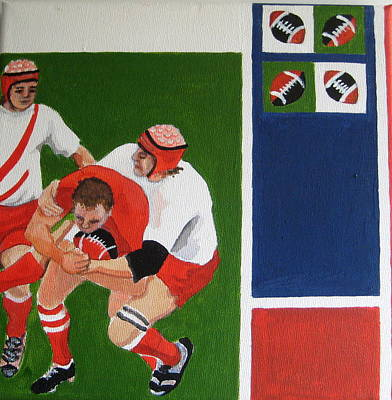 Rugby 3 Art Print by Pat Barker