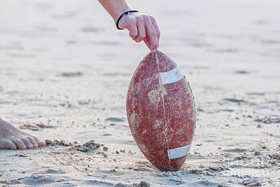 Photograph - Rugby Ball Concept by Benny Marty