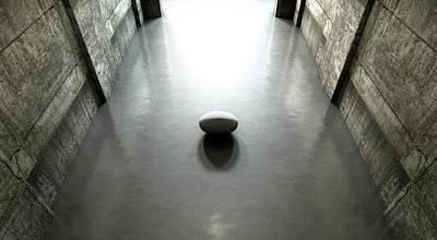 Recreational Sport Digital Art - Rugby Ball Sports Stadium Tunnel by Allan Swart