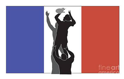 Rugby France Art Print by Aloysius Patrimonio
