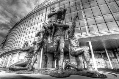 Photograph - Rugby League Legends Statue Wembley  by David Pyatt
