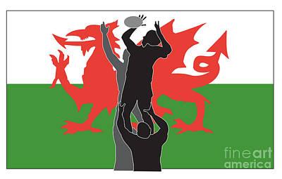 Rugby Wales Art Print by Aloysius Patrimonio