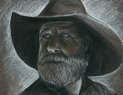 Rugged Blue Eyed Cowboy Art Print