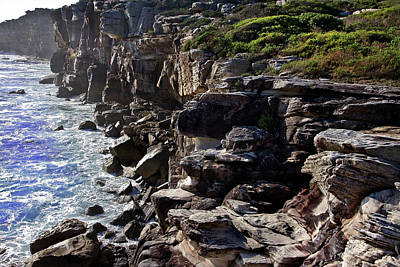 Photograph - Rugged Cliff Of North Head  by Miroslava Jurcik