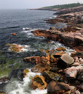 Cape Breton Photograph - Rugged Coastline At Mackinnons Cove In Cape Breton Highlands Nat by Reimar Gaertner
