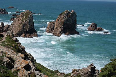 Rugged Coastline - Portugal Art Print by Connie Sue White